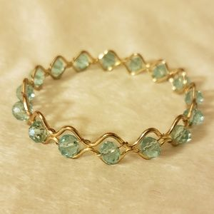 Jewelry - Beautiful Aqua Gemstone and Gold Bracelet